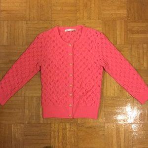 TRINA TURK Merino Wool Sweater in Pink, Size Small